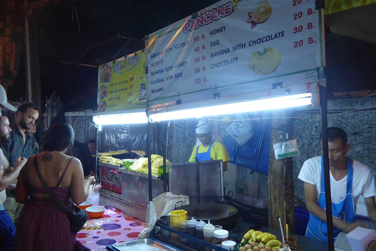 Banana Pancakes at Khaosan Road in Bangkok