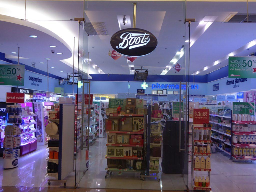 Boots the chemist shop in Bangkok