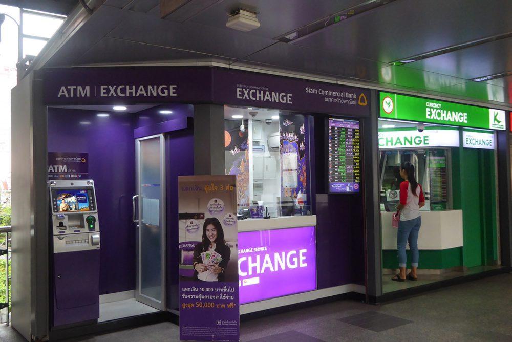 where to change money in Bangkok