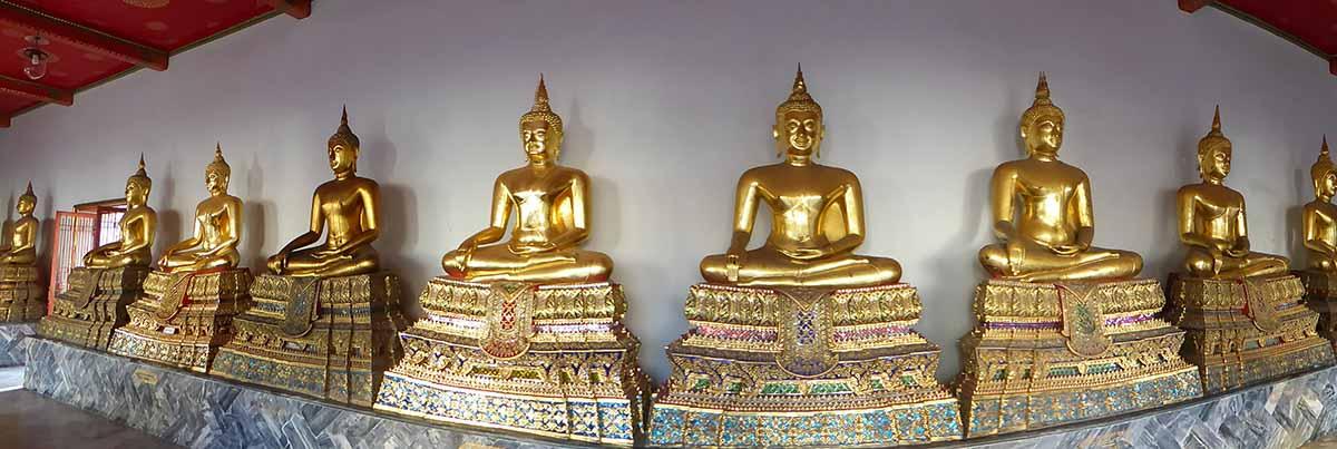 Buddha Images at Wat Pho in Bangkok