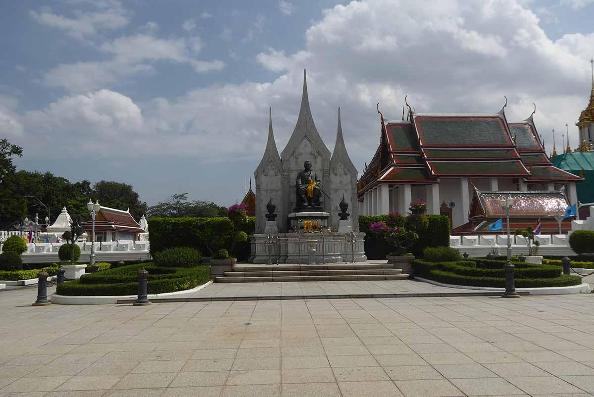 King Rama III statue in Bangkok