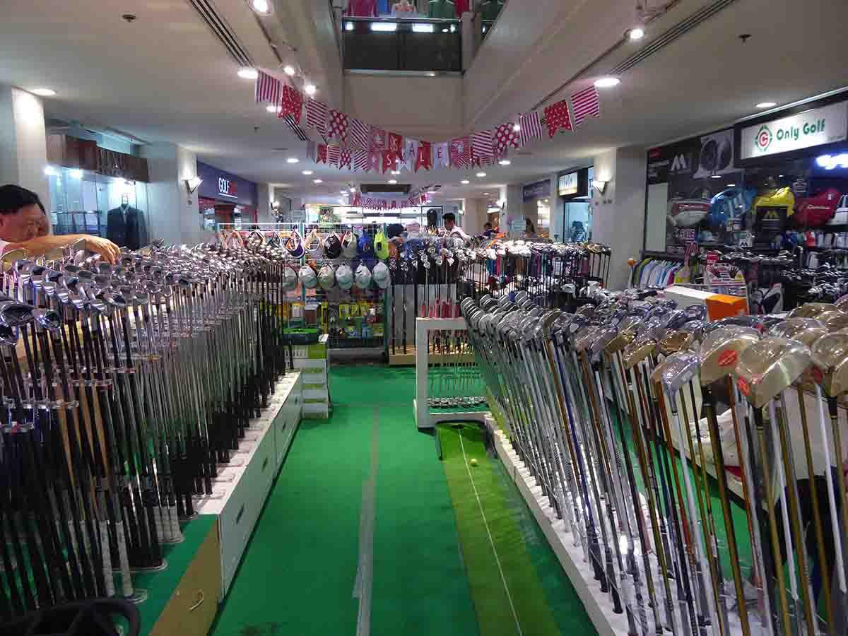 where to buy golfing equipment in Bangkok