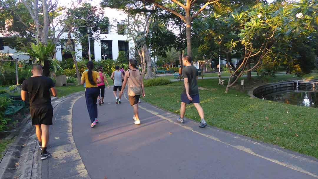 Saranrom Park in Bangkok