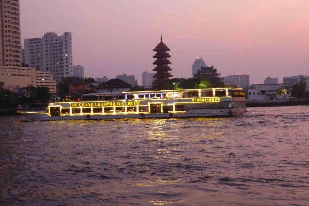 View from Samsara Riverside Bar in Bangkok