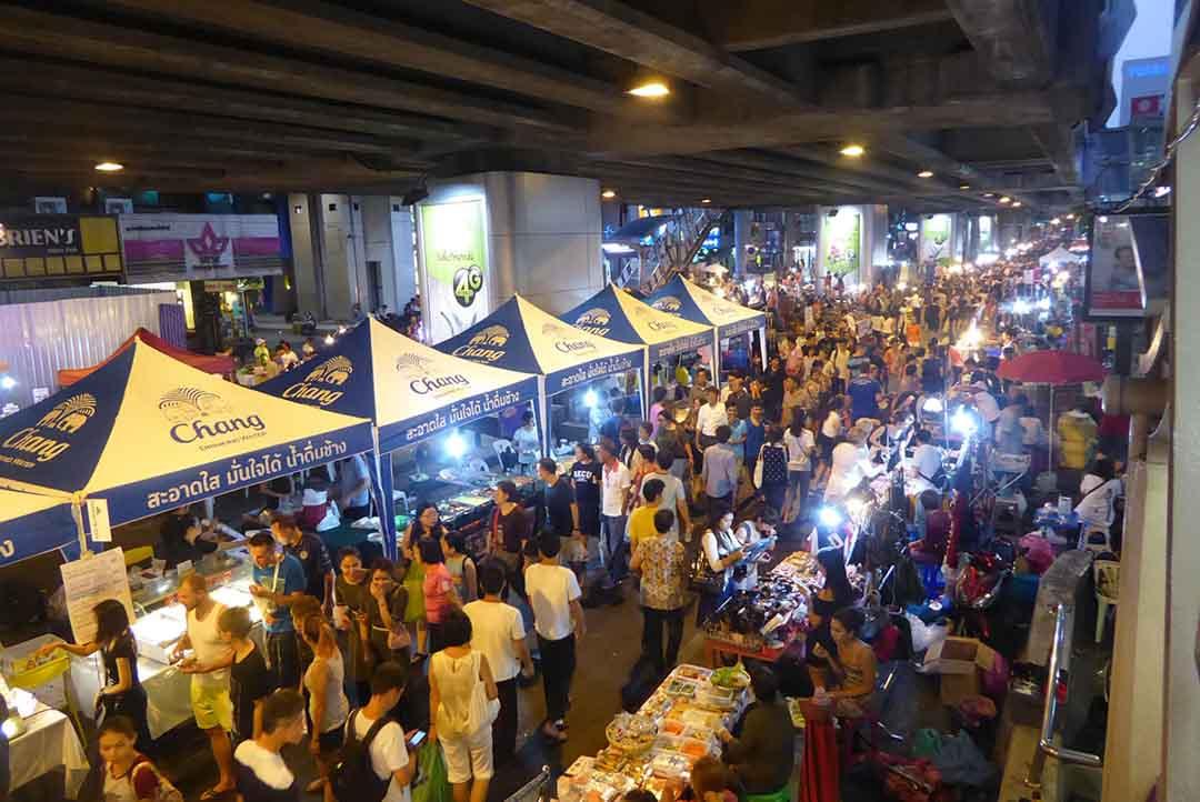 Silom Walking Street Bangkok. Markets in Bangkok.