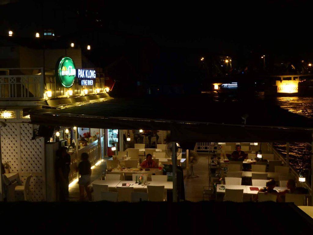 Pak Klong at the river restaurant