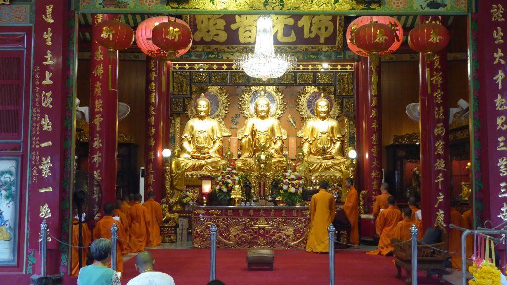 Wat Mangkon Kamalawat in Chinatown Bangkok