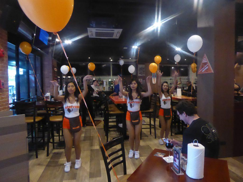 Hooters Girls Dance Bangkok