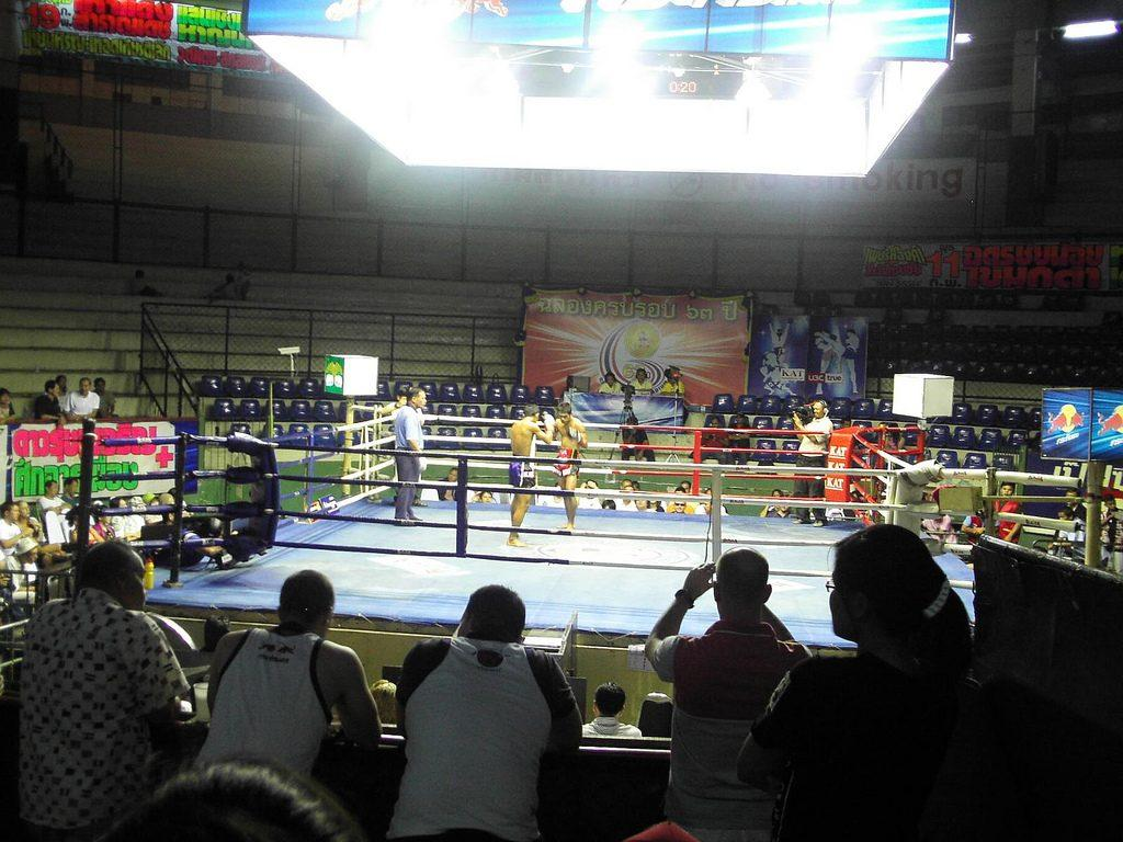 Rajadamnern Thai Boxing Stadium in Bangkok
