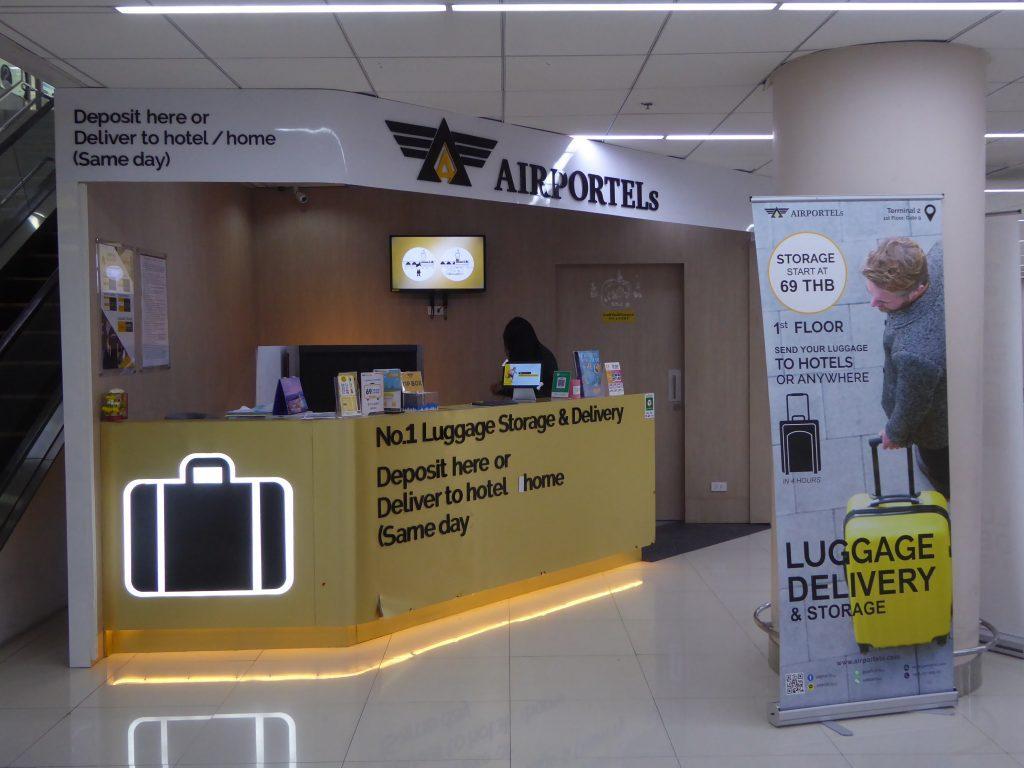 Left Luggage office at Don Muang Airport Bangkok