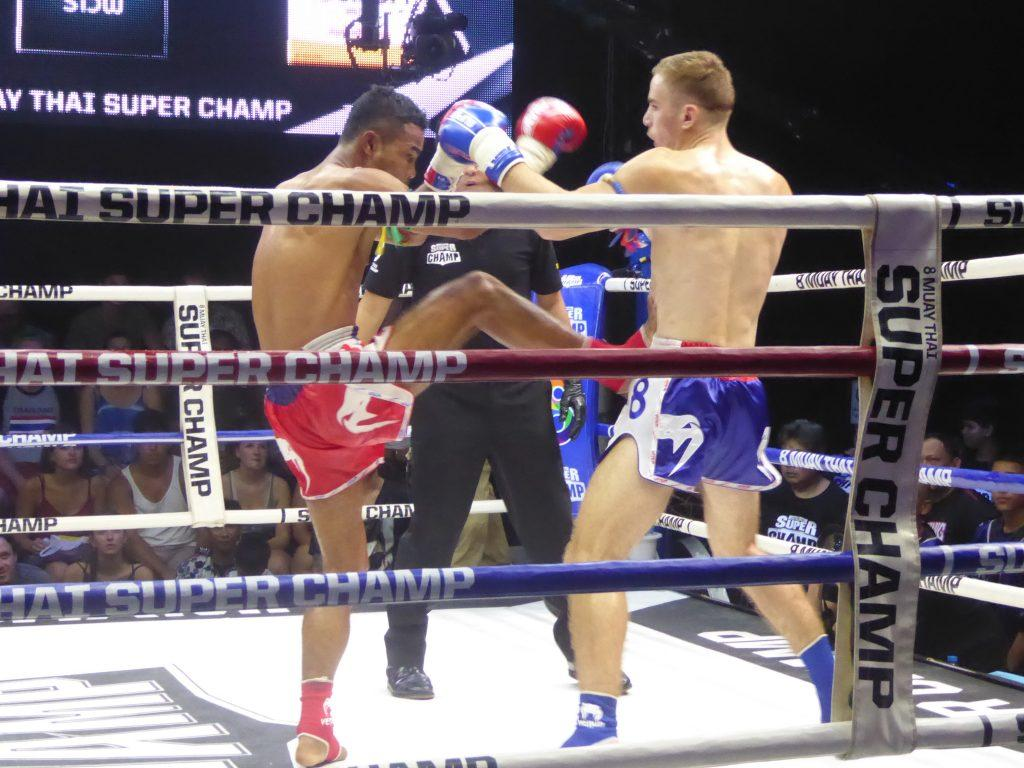 Muay Thai Boxing in Bangkok, Thailand.