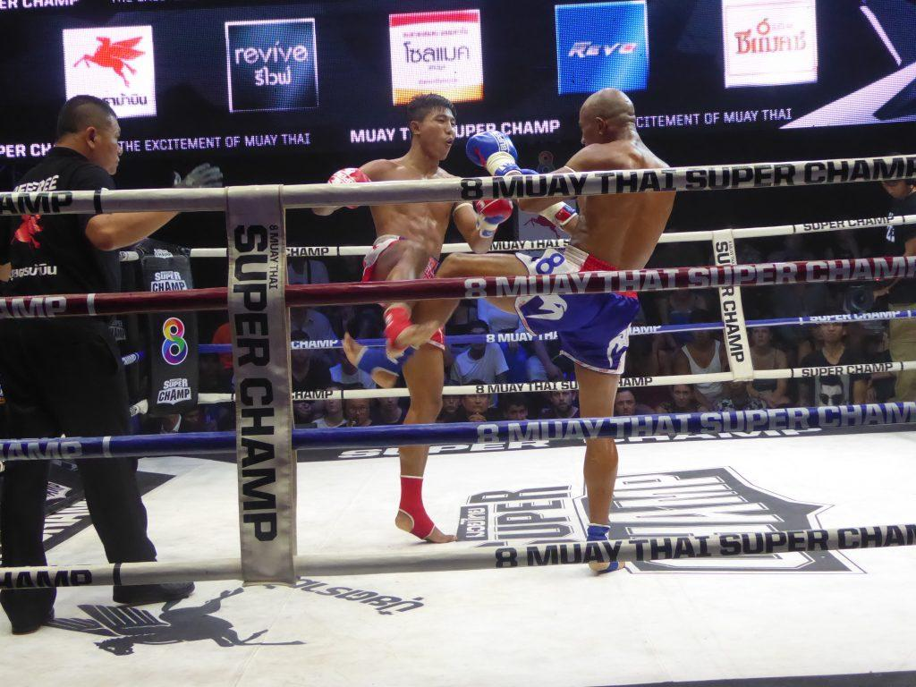 Super Champ Muay Thai Boxing in Bangkok, Thailand.