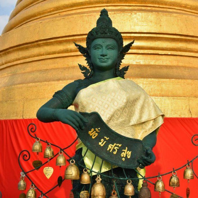 The Golden Mountain at Wat Saket in Bangkok Thailand