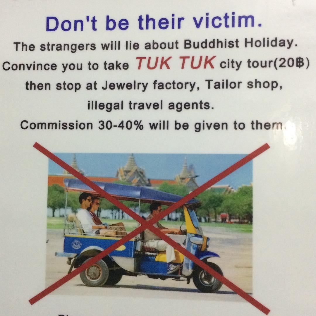 Scams in Bangkok