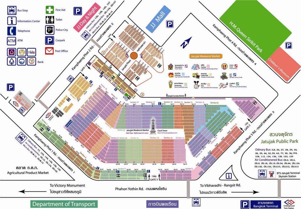 Chatuchak Market Map