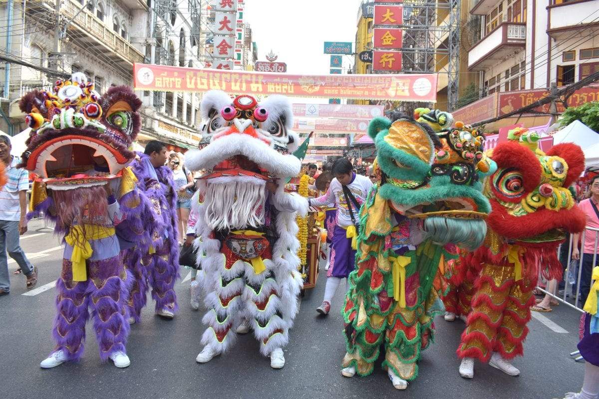 A Chinese Lion Dance