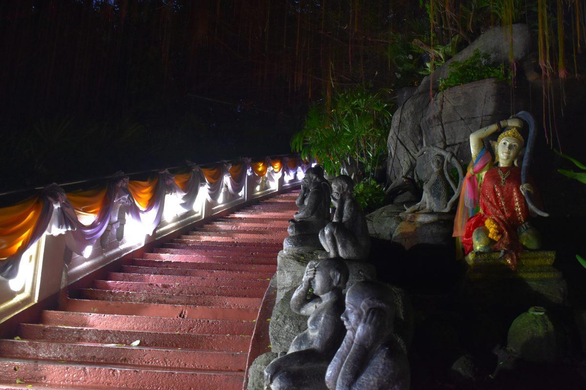Wat Saket Temple in Bangkok at Loy Krathong