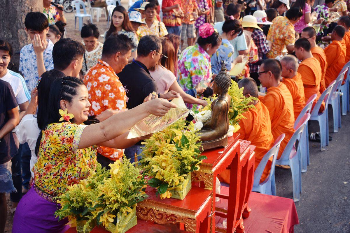 a traditional songkran