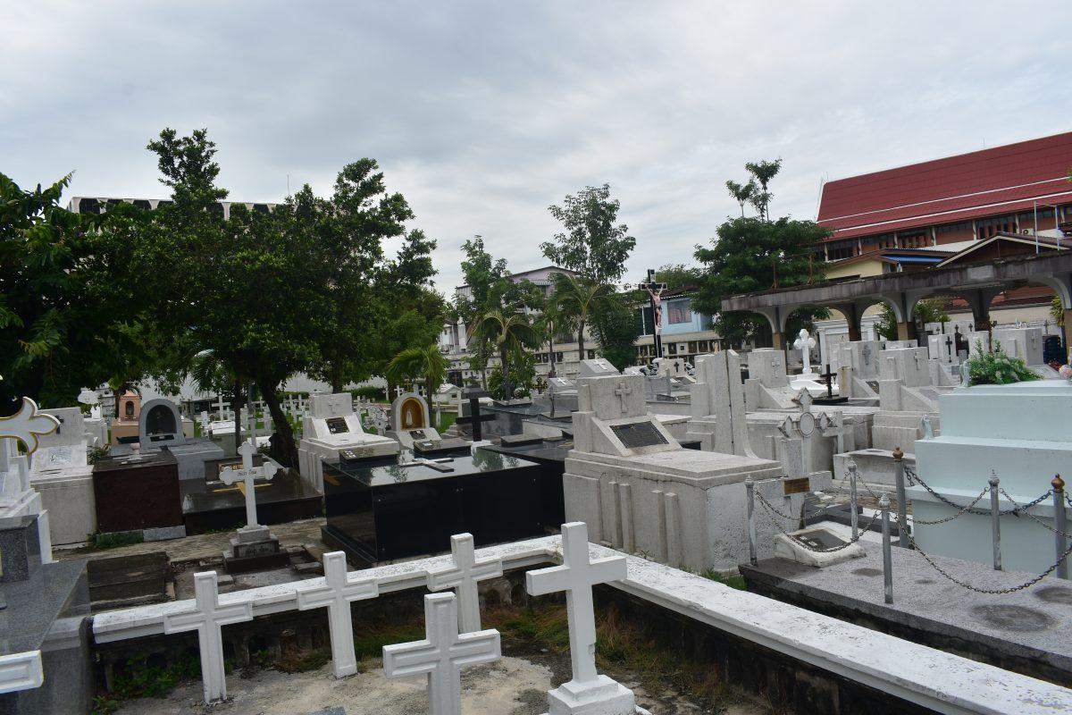 Immaculate Conception Cemetery in Bangkok