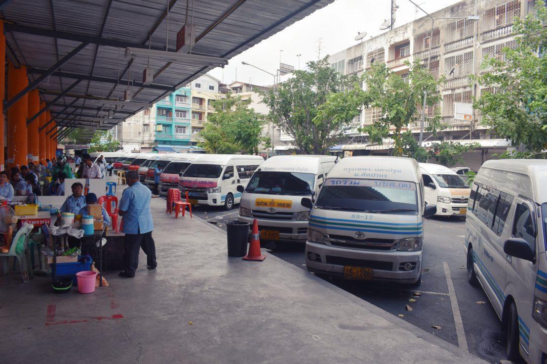 Sai Tai Kao Minivan Station in Bangkok
