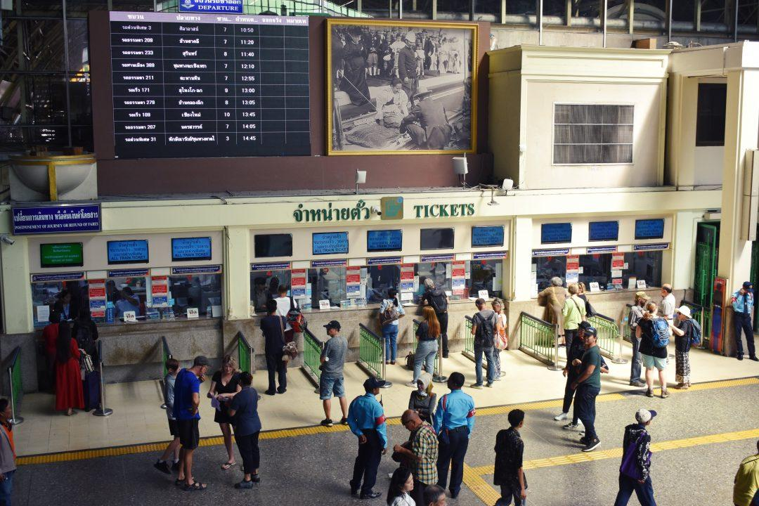 Bangkok Train Station Ticket Windows